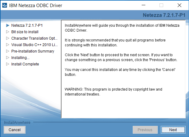 Installing and Configuring IBM Netezza ODBC Driver in