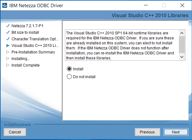 Installing and Configuring IBM Netezza ODBC Driver in Centerprise